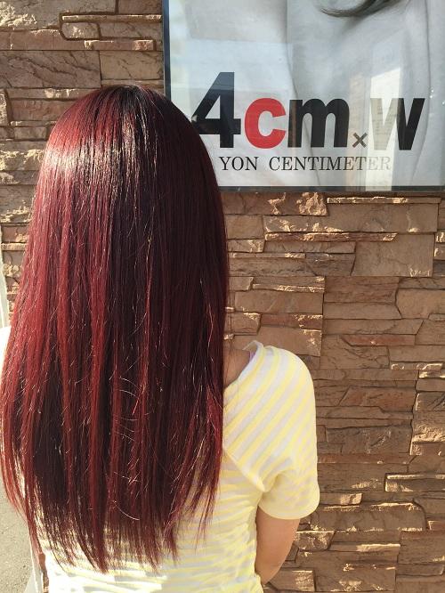 マニックパニックの赤色に初挑戦!髪色はレッドがオススメ