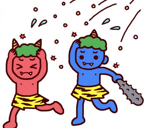節分イベントパーティー!石川県金沢市美容室4cm託児所たんぽぽ