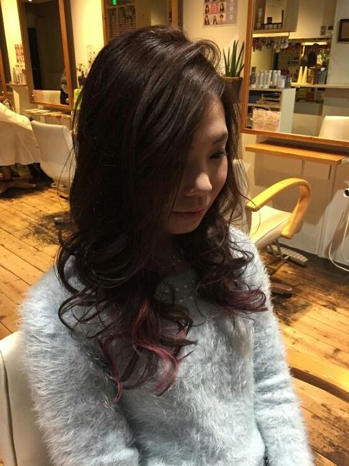 2017年は個性的なヘアカラーがおすすめ!4cm広坂店三野のサロンワーク