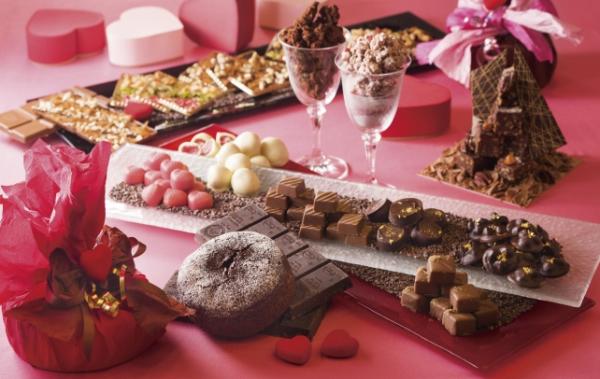 2016年おすすめバレンタインネイルデザイン!ハートフレンチ、チョコレート、ブラウンカラー